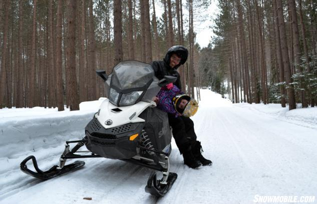 Father Daughter Snowmobile