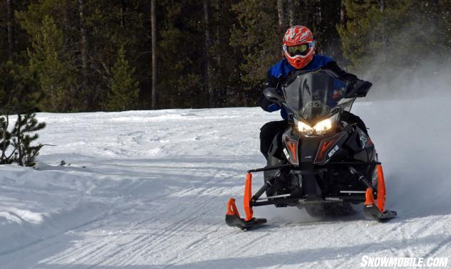 2016 Arctic Cat XF 6000 CrossTrek Action Cornering