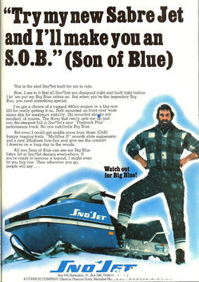 The fictional 'Big Blue' character became a SnoJet icon during the years Conroy owned the brand.