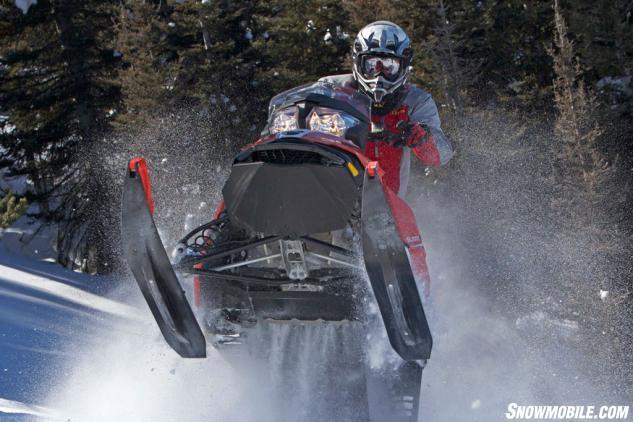 2016 Ski-Doo Summit SP T3 Action Skis Up