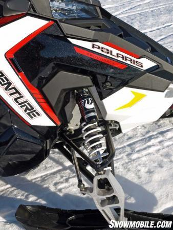 """Ease of front suspension tuning comes with the inclusion of new Fox QS3 """"lever"""" adjust shocks."""