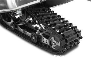 The 144-inch rear suspension uses a 6-degree flip up on the back of the rail profile.