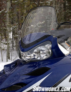 The new breed of sports-utility sleds like the Polaris WideTrack sport large windshields and unrivalled towing power.