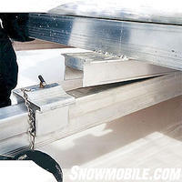 Be sure to lubricate the tilt assembly and clamp on tilt-type trailers such as this two-place Floe Trailer.