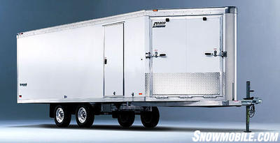 All-aluminum trailers like Pace-American's Silver Arrow snowmobile trailers may keep rust at bay, but even they benefit from end-of-season care
