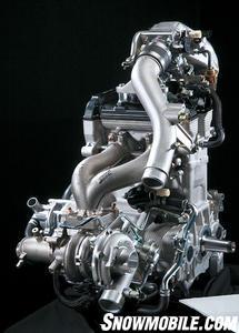 Turbocharging takes the base 4-stroke to 177 horsepower.
