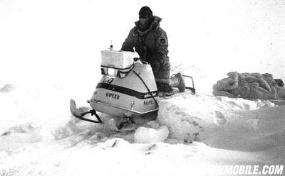 Plaisted's polar expedition used 16-hp Ski-Doo snowmobiles to get to the North Pole in 1968.