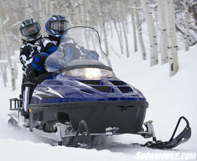 Polaris' WideTrak LX handles two-up travel and all kinds of winter work.