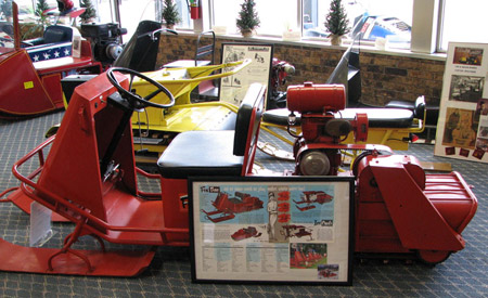 The World Snowmobile Headquarters in Eagle River, WI holds a rotating collection of early snowmobiles.