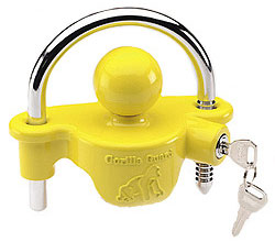 We've found locks like this Fulton UTL-100 Gorilla Guard Universal coupler lock that fit into the trailer's ball coupler offer good piece of mind for theft prevention.