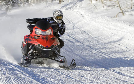 Designed for action, Polaris' Dragon 800 features a lightweight rear suspension.