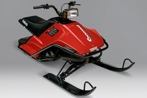 Taking a risk, Yamaha created a low cost, 79cc snow scooter that is more popular now as a vintage sled than it was when it was first introduced in 1988.