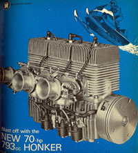 Hirth�s �big bore� 793cc Honker made 70 hp at 6500rpm.