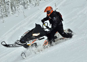 2013 Polaris RMK 800 Assault Wrong Foot Forward