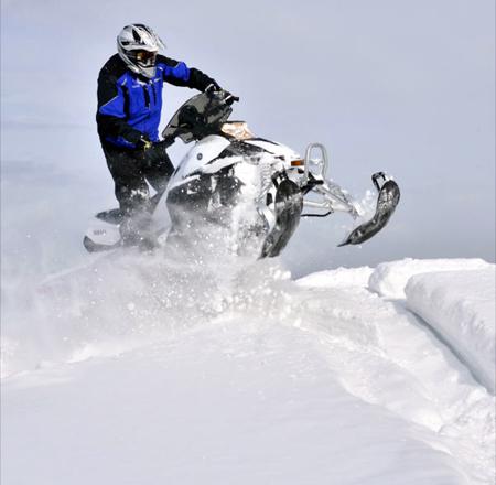 2013 Yamaha Phazer MTX cresting hill