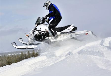 2013 Yamaha Phazer MTX jumping berm