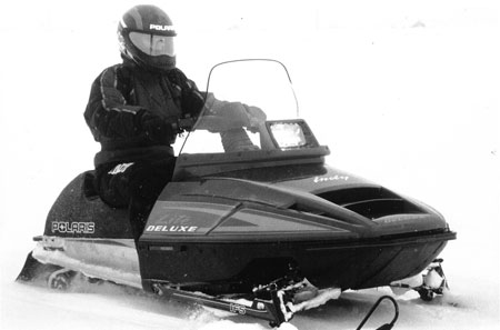 "Polaris introduced the Indy Lite in 1991 but would expand the line to include this ""Deluxe"" version as well as a two-up touring model."