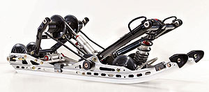 The Dragon skidframe uses lightweight components.