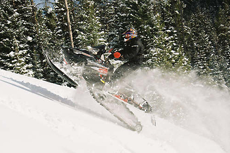 Kim Steele blasts his 170-hp turbo up a western mountainside.