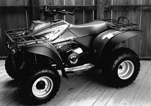 Polaris brought some ATV ideas into its Indy Lites, including the base 244cc single, poly plastic material for the hood and the ATV's drive clutch.