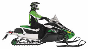 You can add a variety of fitted storage bags to your new Arctic Cat that can be placed on the tunnel, the handlebar or even behind the windshield.