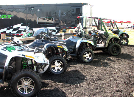 Snowmobile manufacturers use Hay Days to display all of their products to potential buyers.