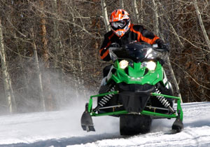 Aggressive Arctic Cat Riding