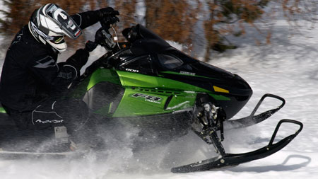 Snowmobile manufacturers like Arctic Cat offer helmets to fit your head and match your sled.