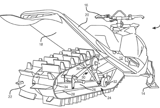 Arctic Cat Suspension Patent Rear View