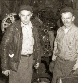 Best friends and business partners, David Johnson at right founded Polaris with Edgar Hetteen (left) and his younger brother Allan. (Polaris archival photo)