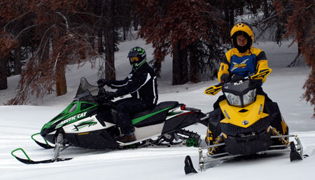 Ski-Doo and its REV chassis changed the way we ride and meant the competition like Arctic Cat had to follow with a ride-forward design of its own.