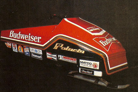 Using knowledge gained as a professional drag racer, Gaudreau worked on shaping an aerodynamic body for his Budweiser sled.