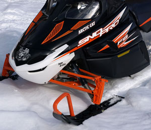 Arctic Cat uses premium Fox FLOAT AirShox as standard equipment on its sport sleds.