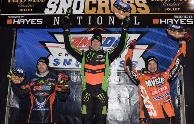 Chicago Snocross Pro Open Podium