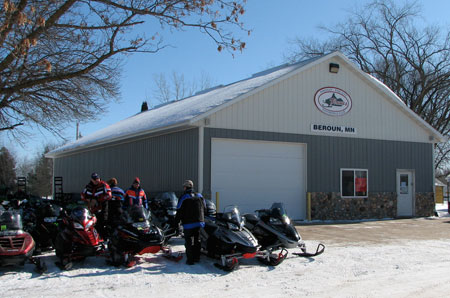 Lunch for Minnesota veterans was hosted at the Beroun Flames clubhouse, just off the main trail.
