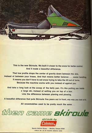 This Coleman-Skiroule advertisement points out both the style and mechanical substance revealed in the forward-thinking design of the RT series.