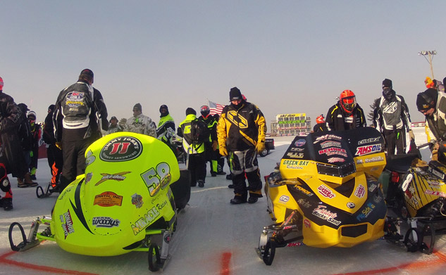 World Championship Snowmobile Derby Start