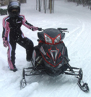Enforcer snowmobiles underwent prototype testing in Michigan's Upper Peninsula earlier this winter.