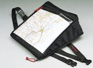 Trail cruising gets easier when you use a map bag. (Image courtesy of Dennis Kirk)