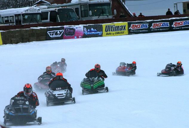 Eagle River Snowmobile Derby Ice Oval Racing