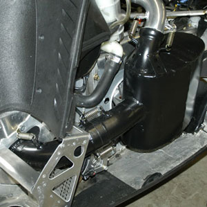 The Powder-Pro add-on mufflers produce stock like sound levels and work with stock or Speedwerx Fat Daddy Single Pipes. (Image courtesy of Hot Seat/Speedwerx)