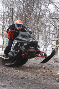 Erin Beukleman from Nampa, Idaho had a great weekend, winning the Mod King title with his custom made Polaris Rush. He also took first in 700 mod, and 800 improved, and a second in 700 improved. This snowmobile turned a lot of heads this weekend.