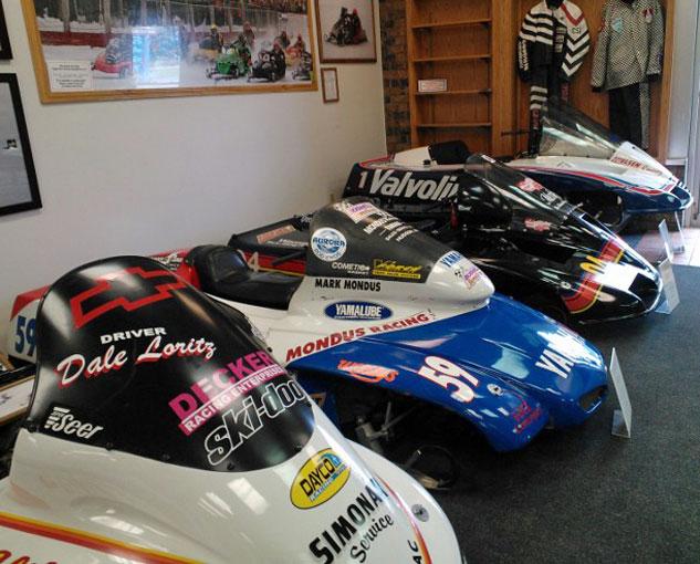 Racing Display at International Snowmobile Hall of Fame