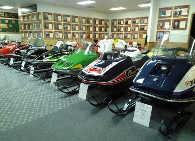 Vintage Display at International Snowmobile Hall of Fame