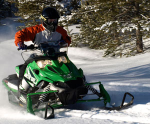 Sleds like the Arctic Cat SnoPro 500 are light and nimble and appeal to more than just young guys.