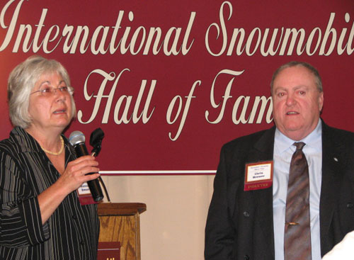 Jeannie and Chris Brewer International Snowmobile Hall of Fame