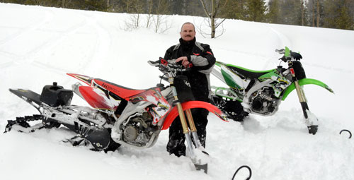 Matt Allred with Mountain Horse Snowbikes