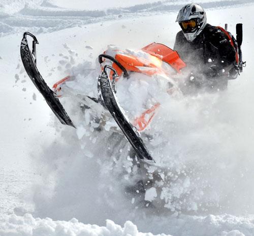 Mountain Snowmobile Product Testing