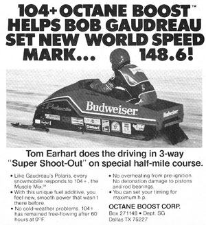 On February 24, 1982, the Budweiser sled reached 148.6 mph and set a new standard for speed.