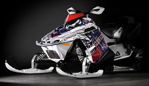 Polaris Retro Snowmobile Wrap